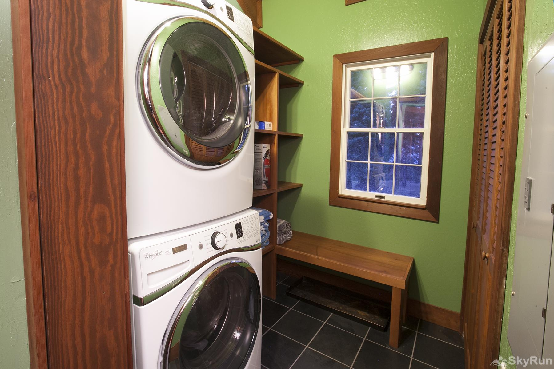 Luxury Lodgepole Home at Northstar Laundry Room (main level)