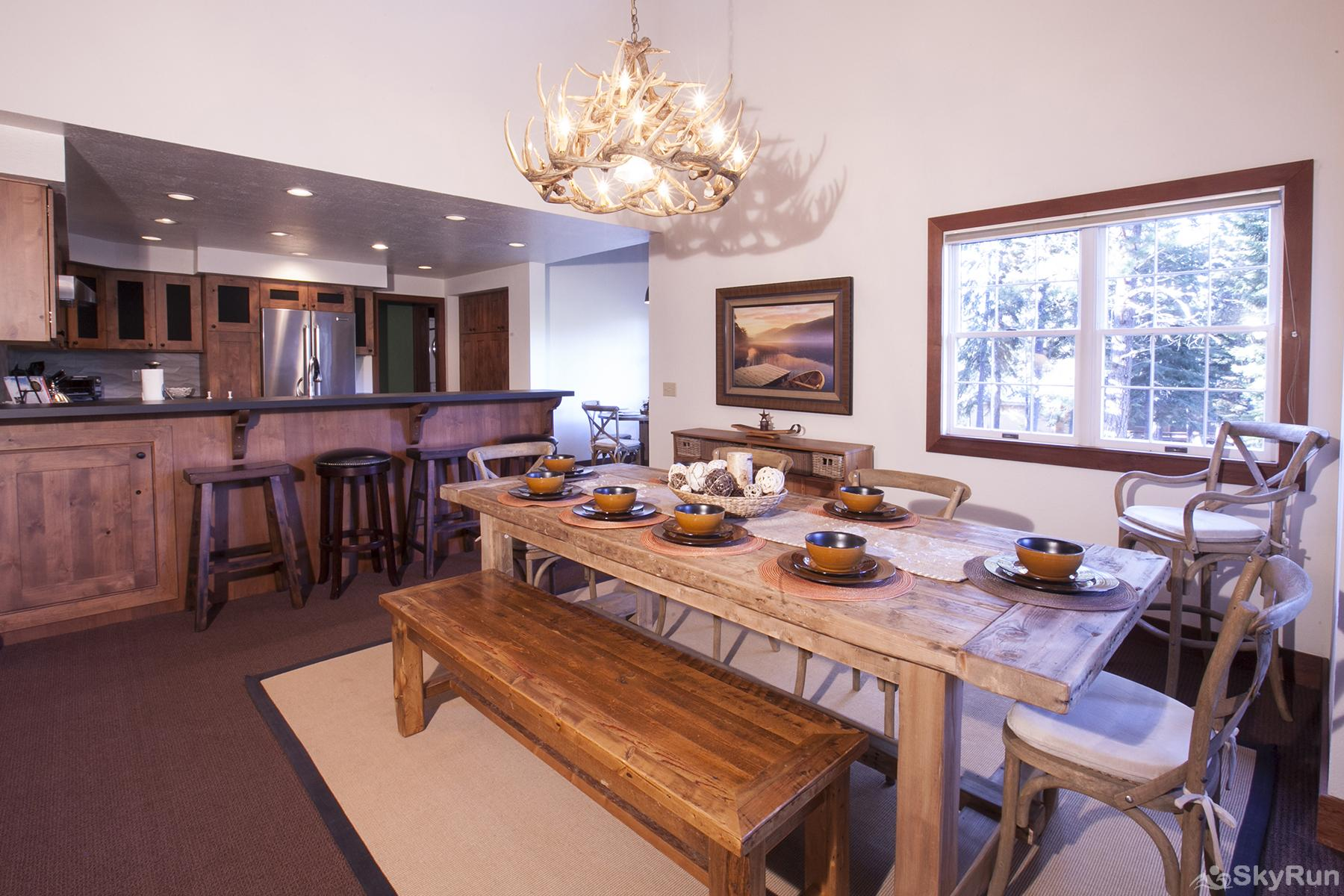 Northstar Luxury Lodgepole Retreat Dining Area (main level)