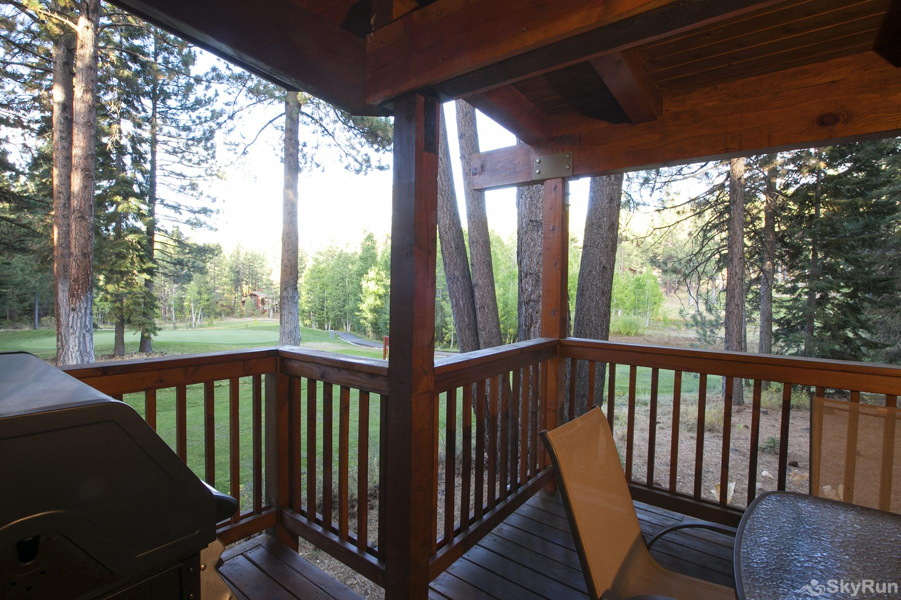 Luxury Lodgepole Home at Northstar View from Covered Patio