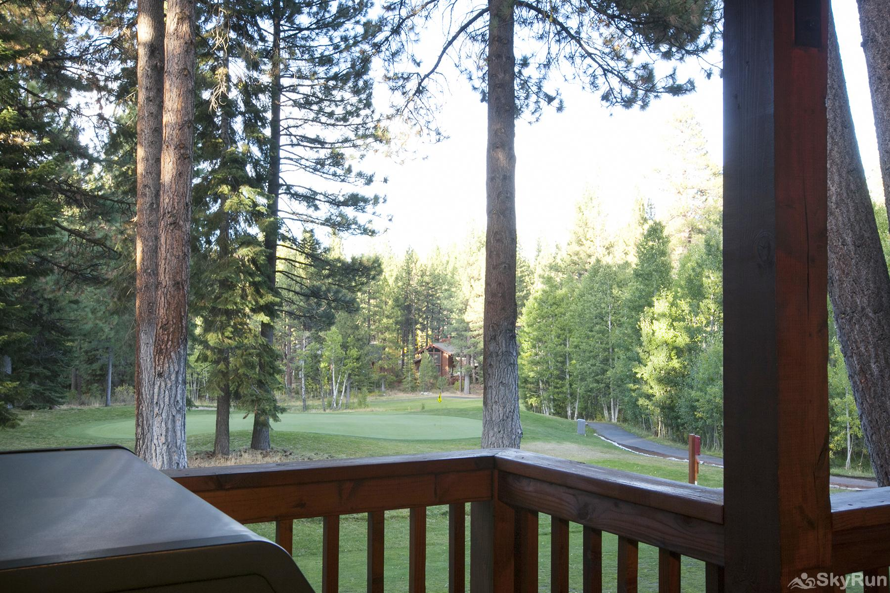 Northstar Luxury Lodgepole Retreat View of Golf Course from Covered Patio