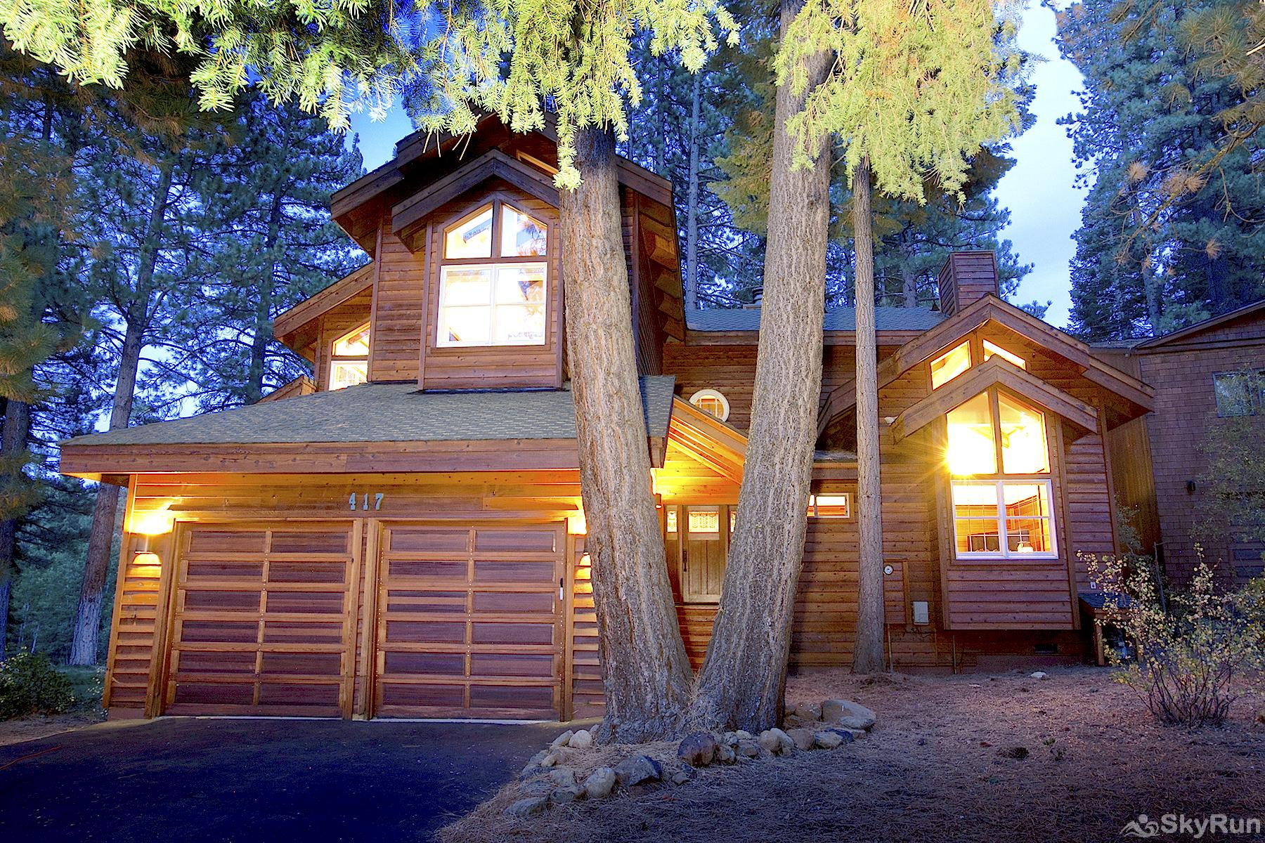 Luxury Lodgepole Home at Northstar Exterior Front View