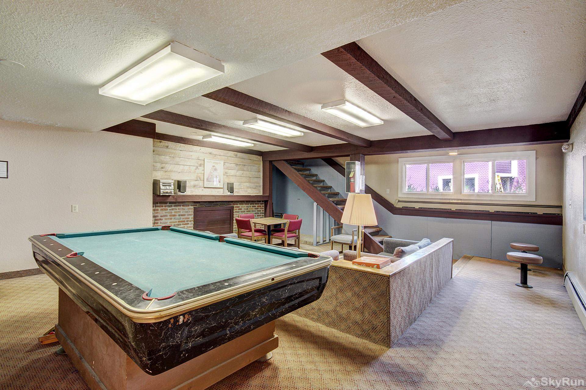 Forest Haus 212 Game room located next to the indoor pool