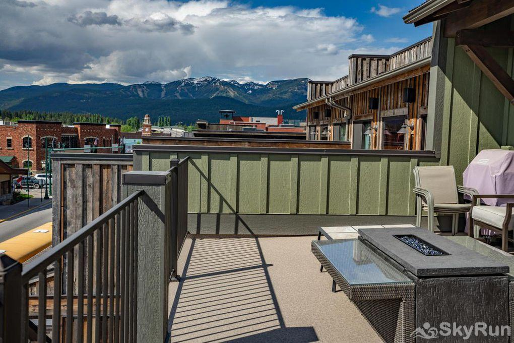 Silver Wolf Penthouse Balcony views of Whitefish Mountain Resort and Downtown Whitefish