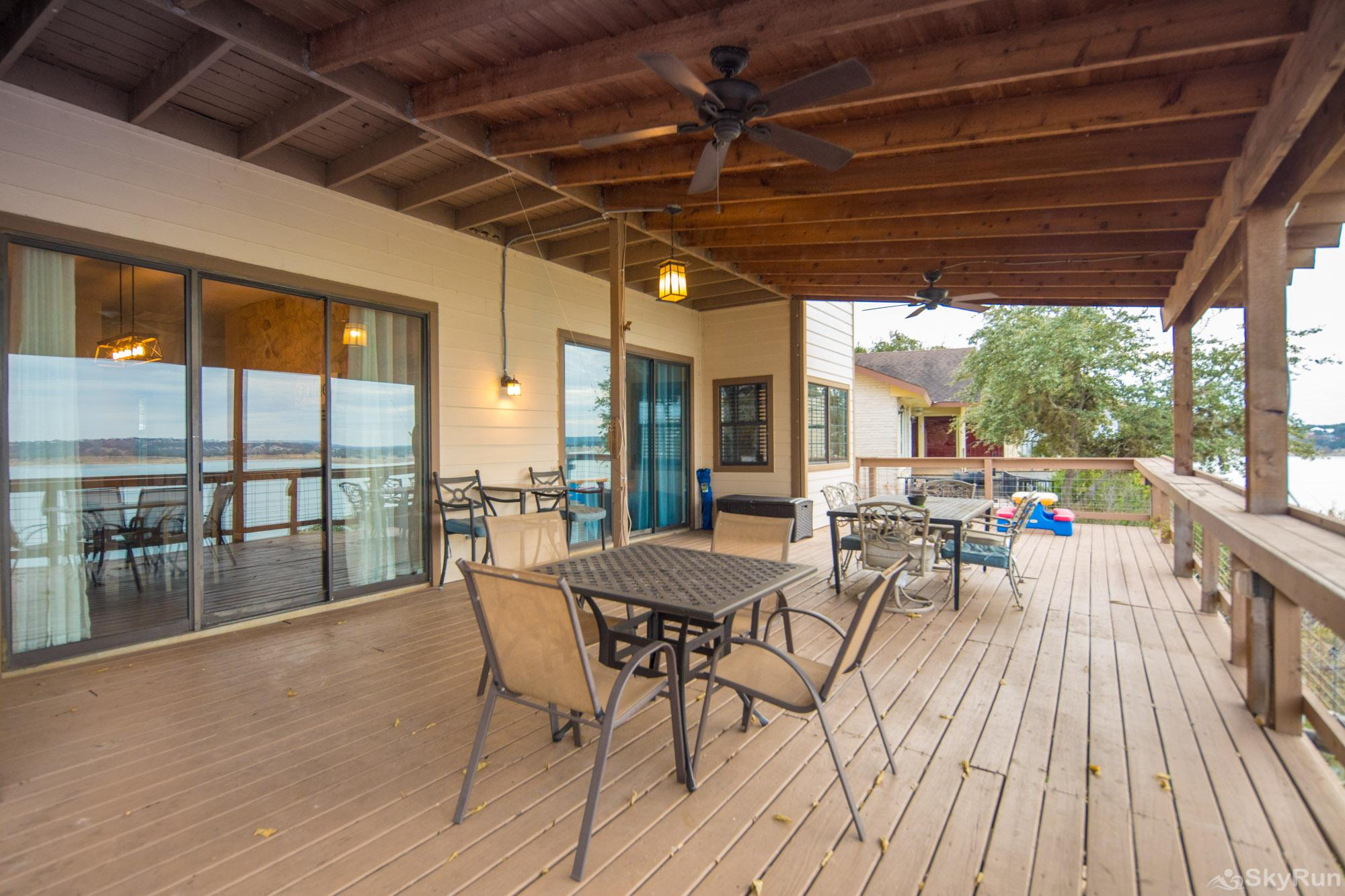 WATER'S EDGE RETREAT Room to relax on the large deck space