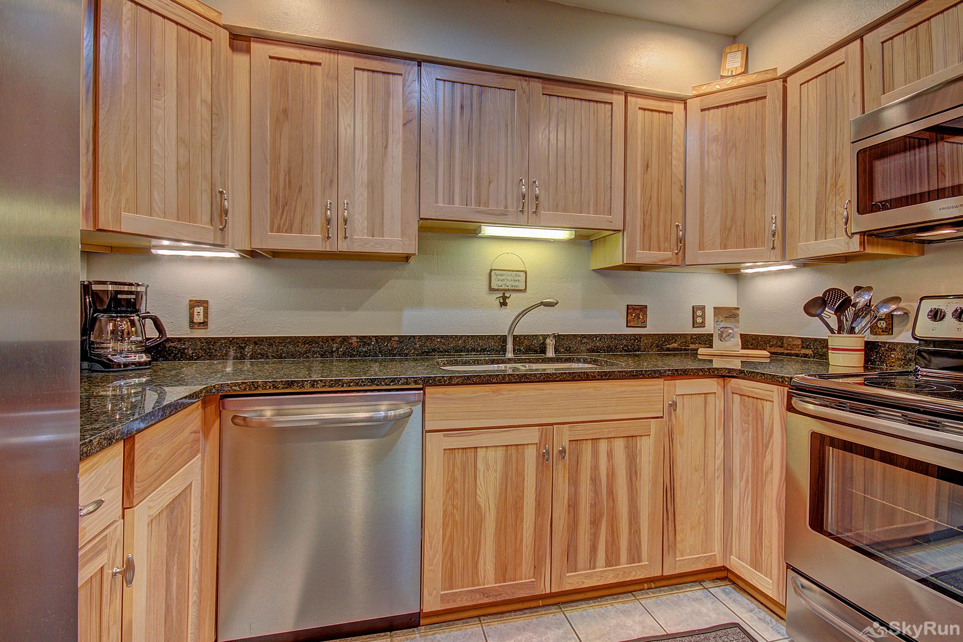Ski Hill 22 Upgraded kitchen with stainless steel appliances
