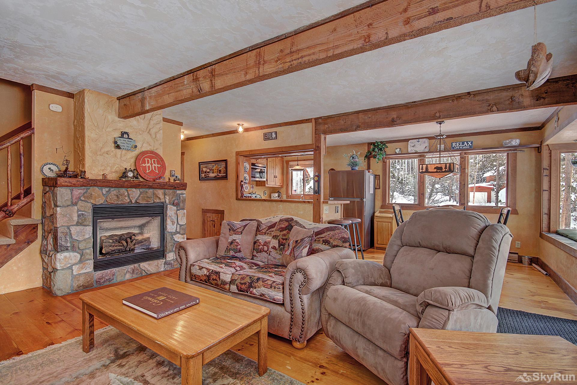 Whispering Pines Stay cozy warm by the gas fireplace on those cold winter nights