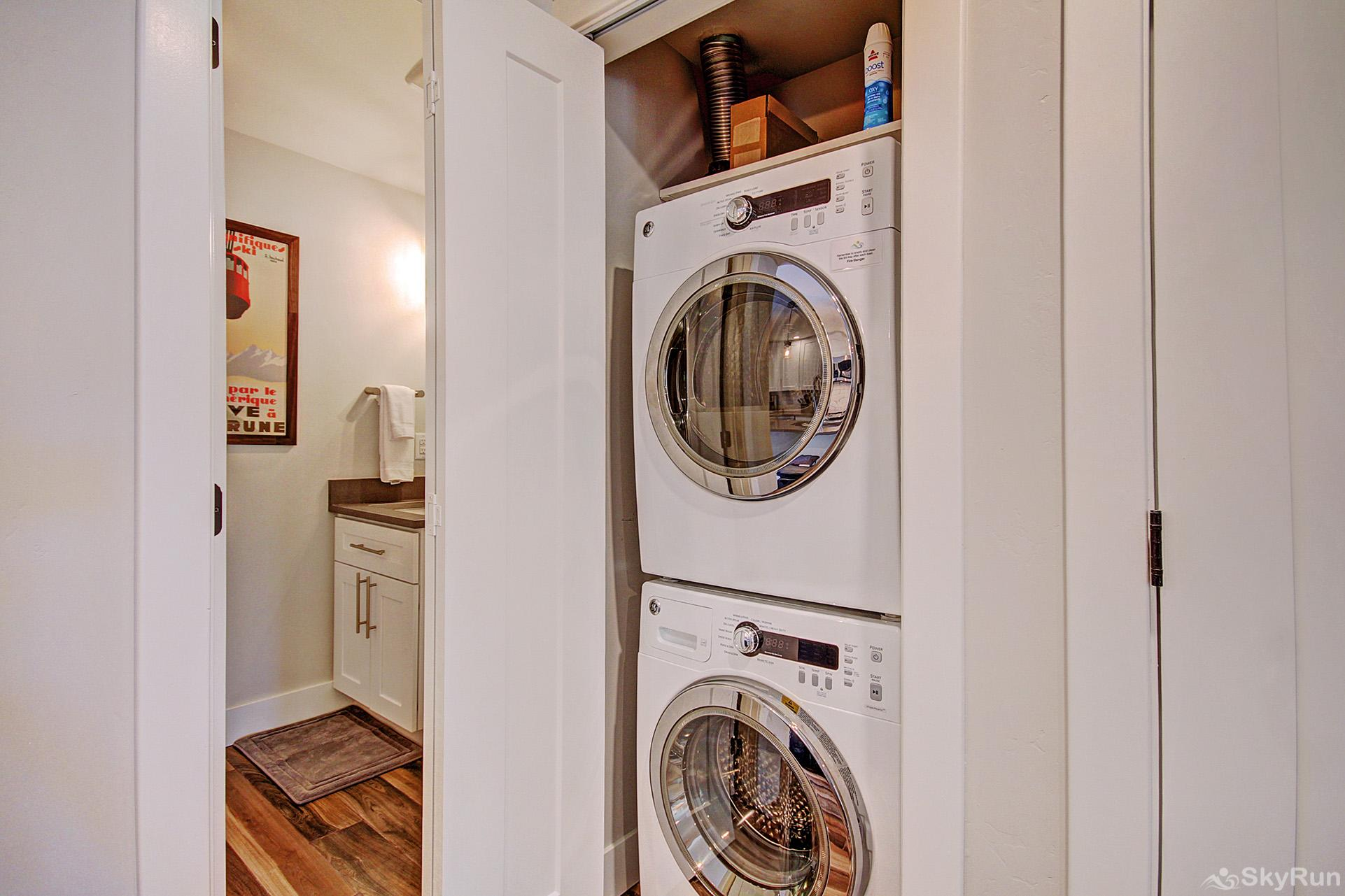First Last Chance Convenient in-home washer and dryer