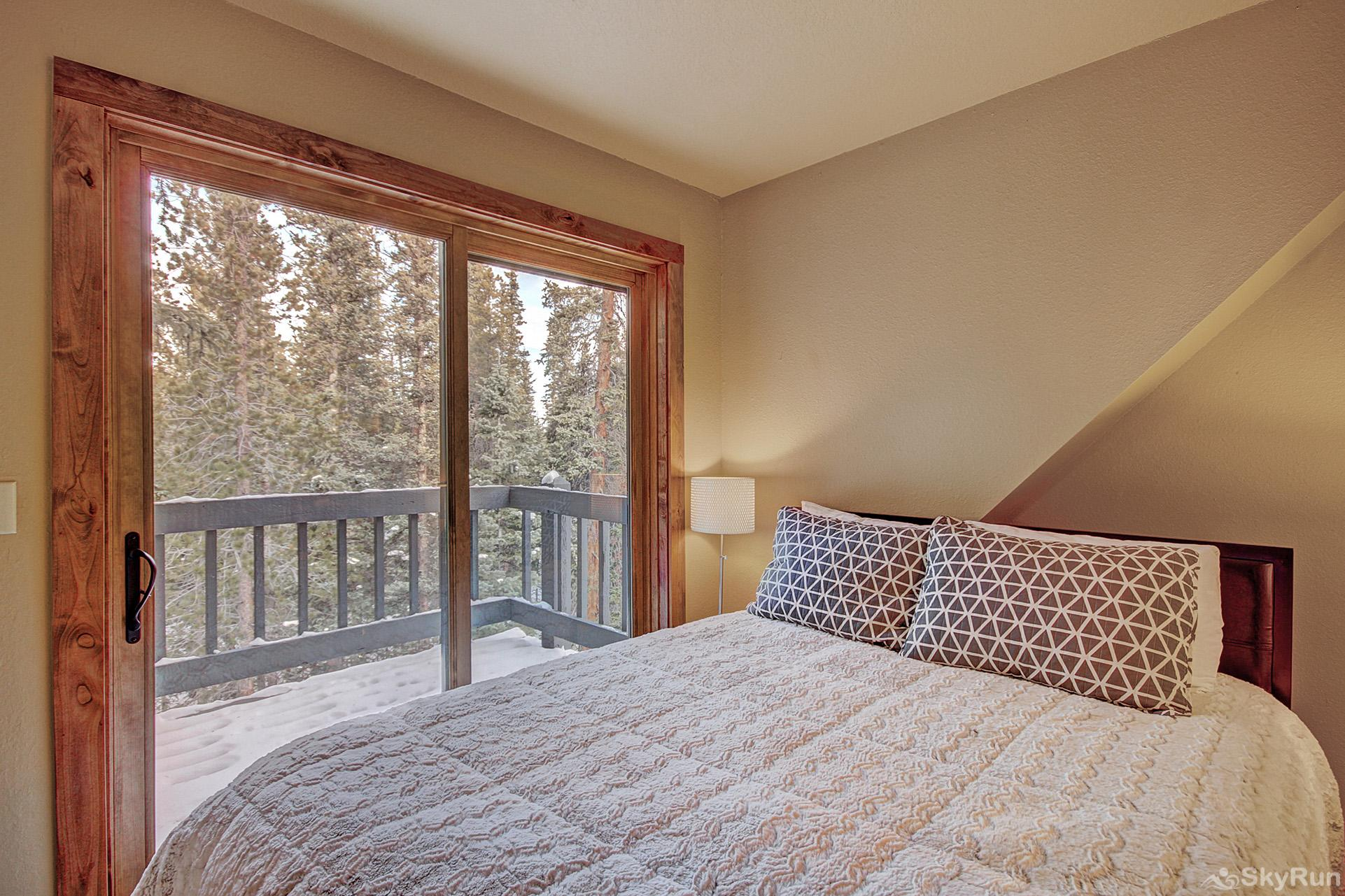 Summit Solitude Estate Queen bedroom in the carriage house