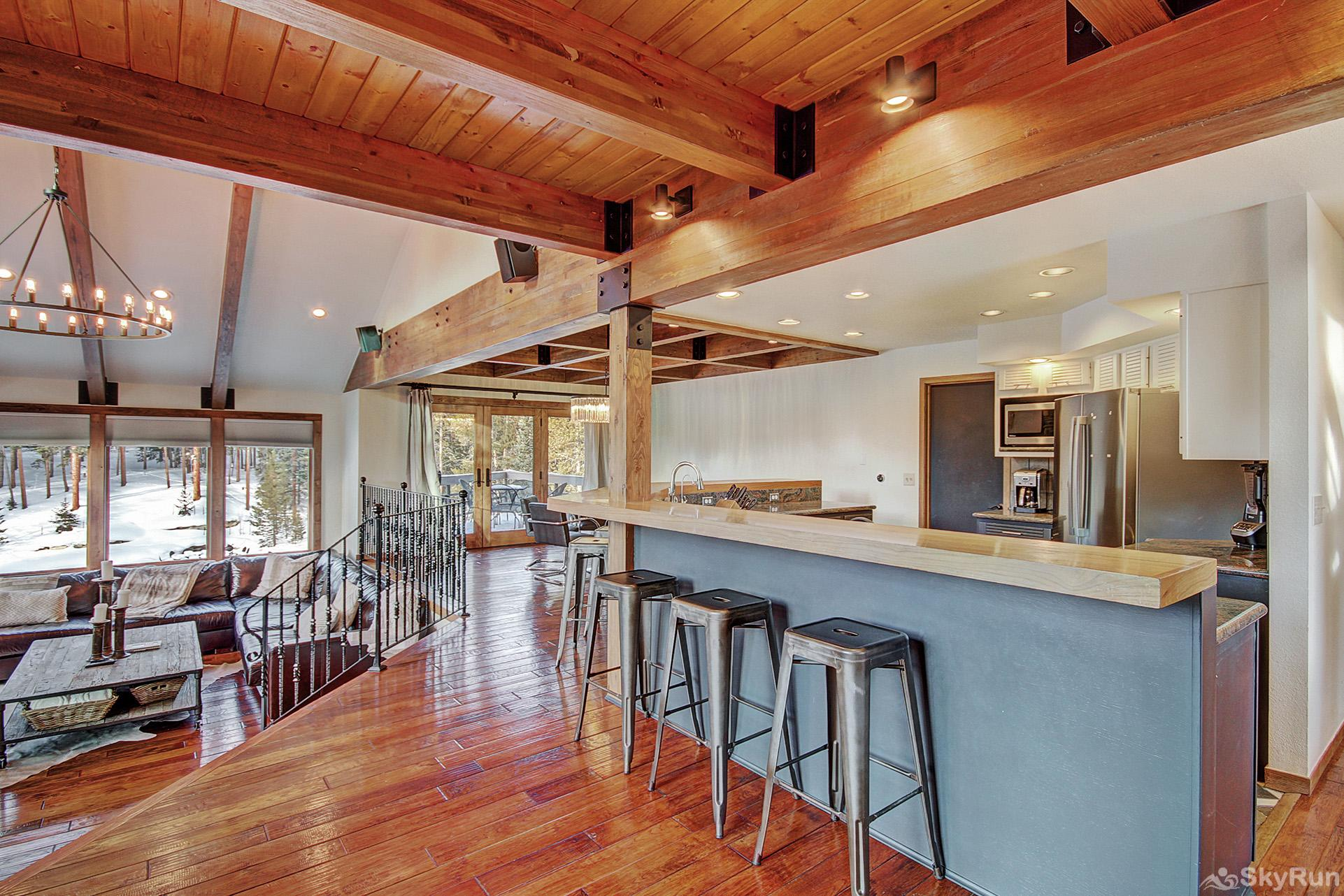 Summit Solitude Estate Large main level kitchen and living area