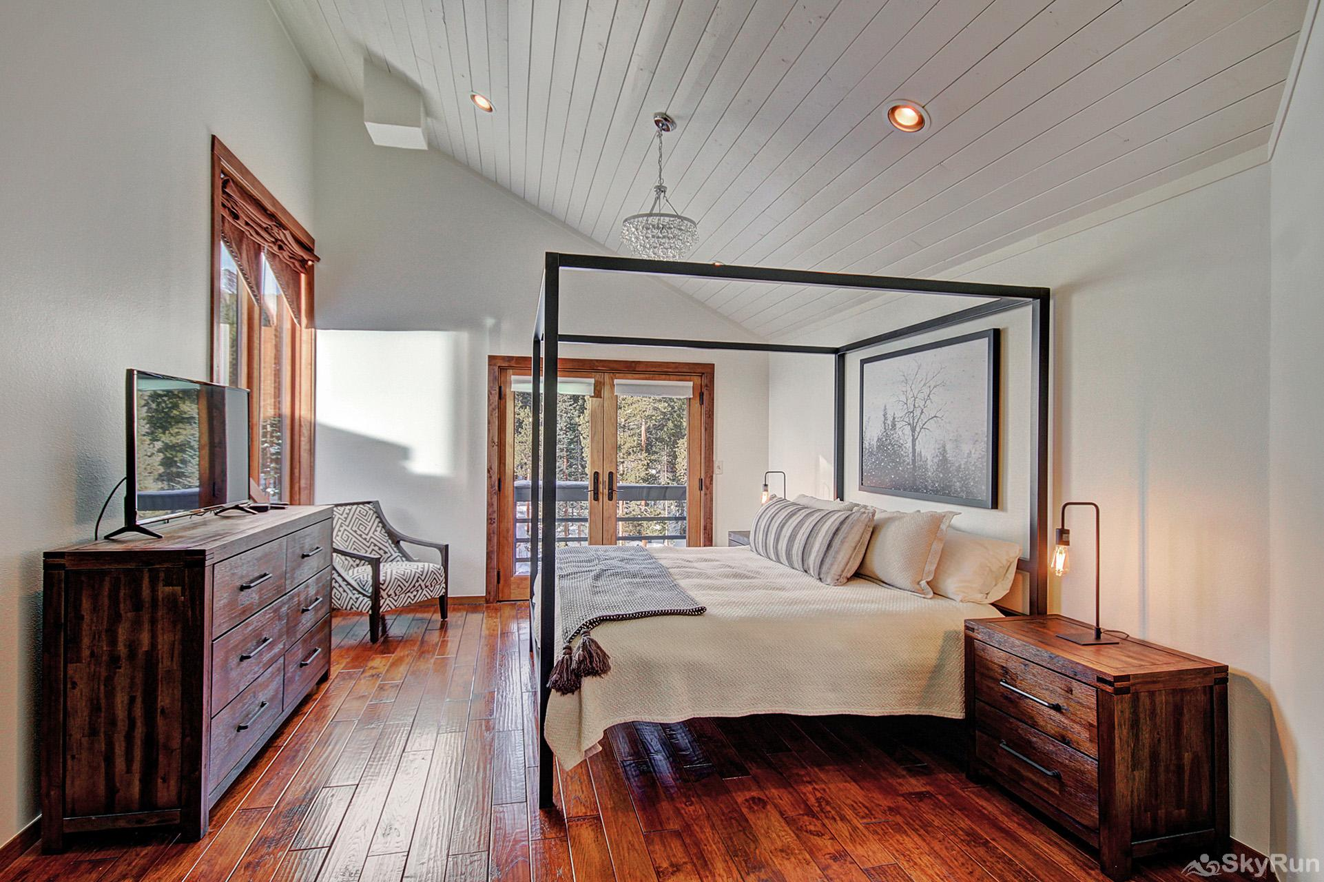 Summit Solitude Estate Additional view of second level king bedroom with ensuite bath, walk out porch