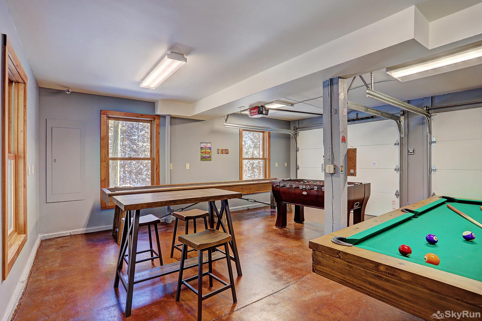 Summit Solitude Estate Spacious game room in the carriage house