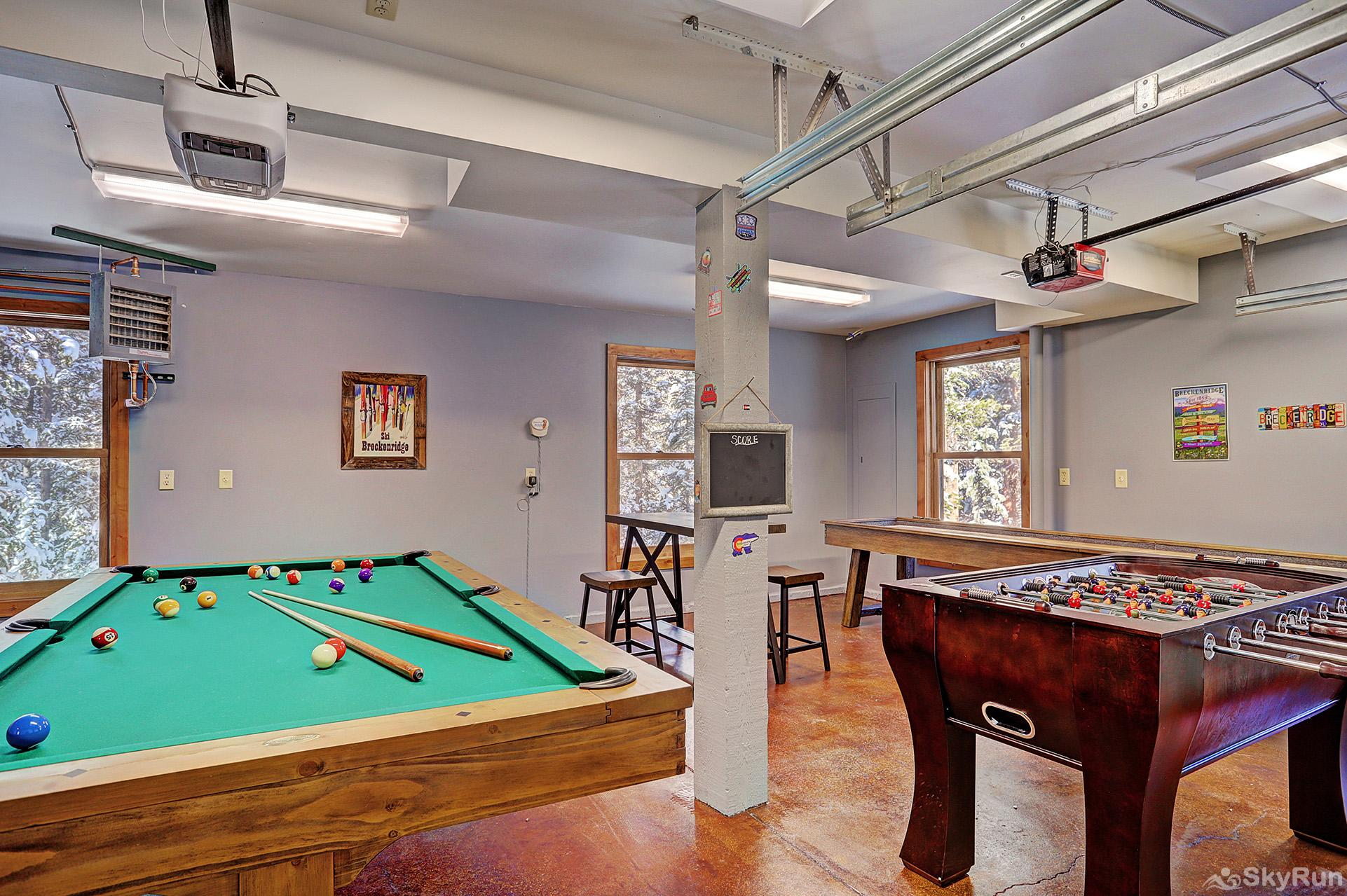 Summit Solitude Estate Pool table in the carriage house game room