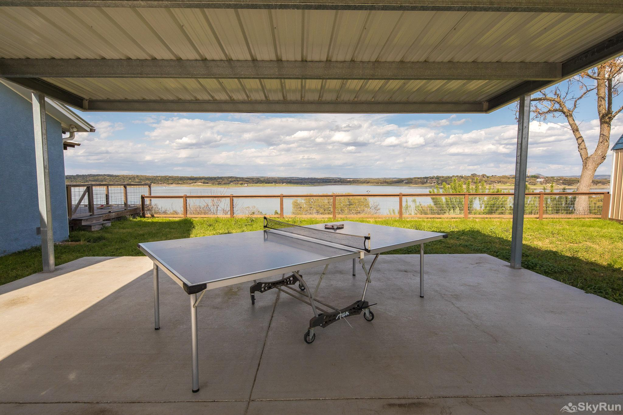LEDGEROCK POINTE Ping pong table under covered awning