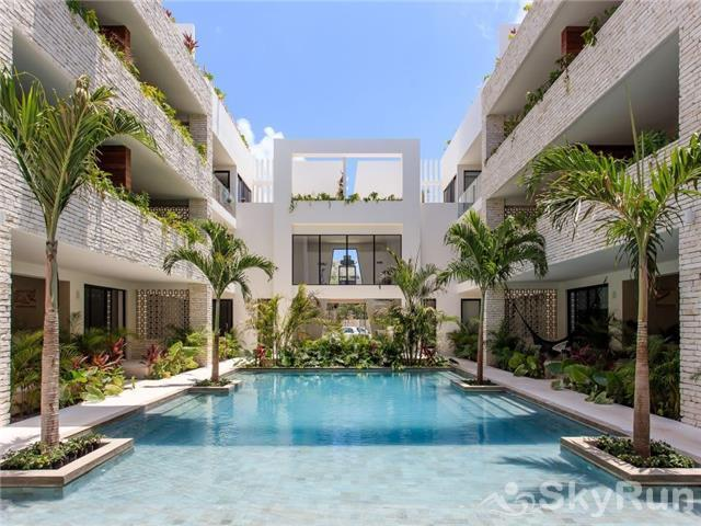 Sanctuary Tulum 2BR Condo Paradise Outdoor Pool Sanctuary Tulum by SkyRun
