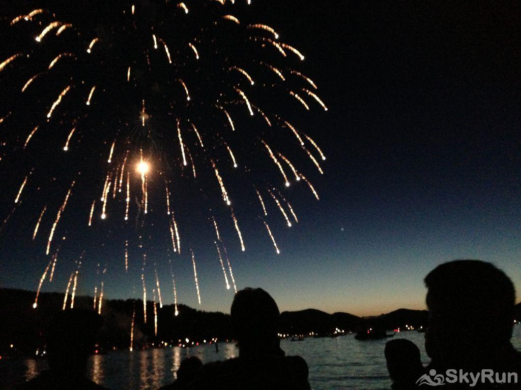Wrangler Loft Fireworks on Whitefish Lake is like no other!