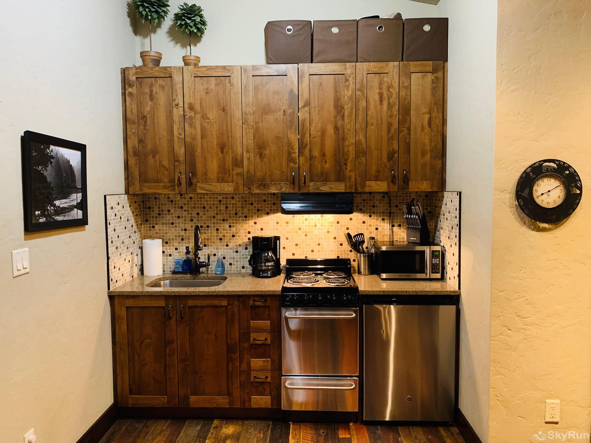 Wrangler Loft Kitchenette for those that want to make their own meals.
