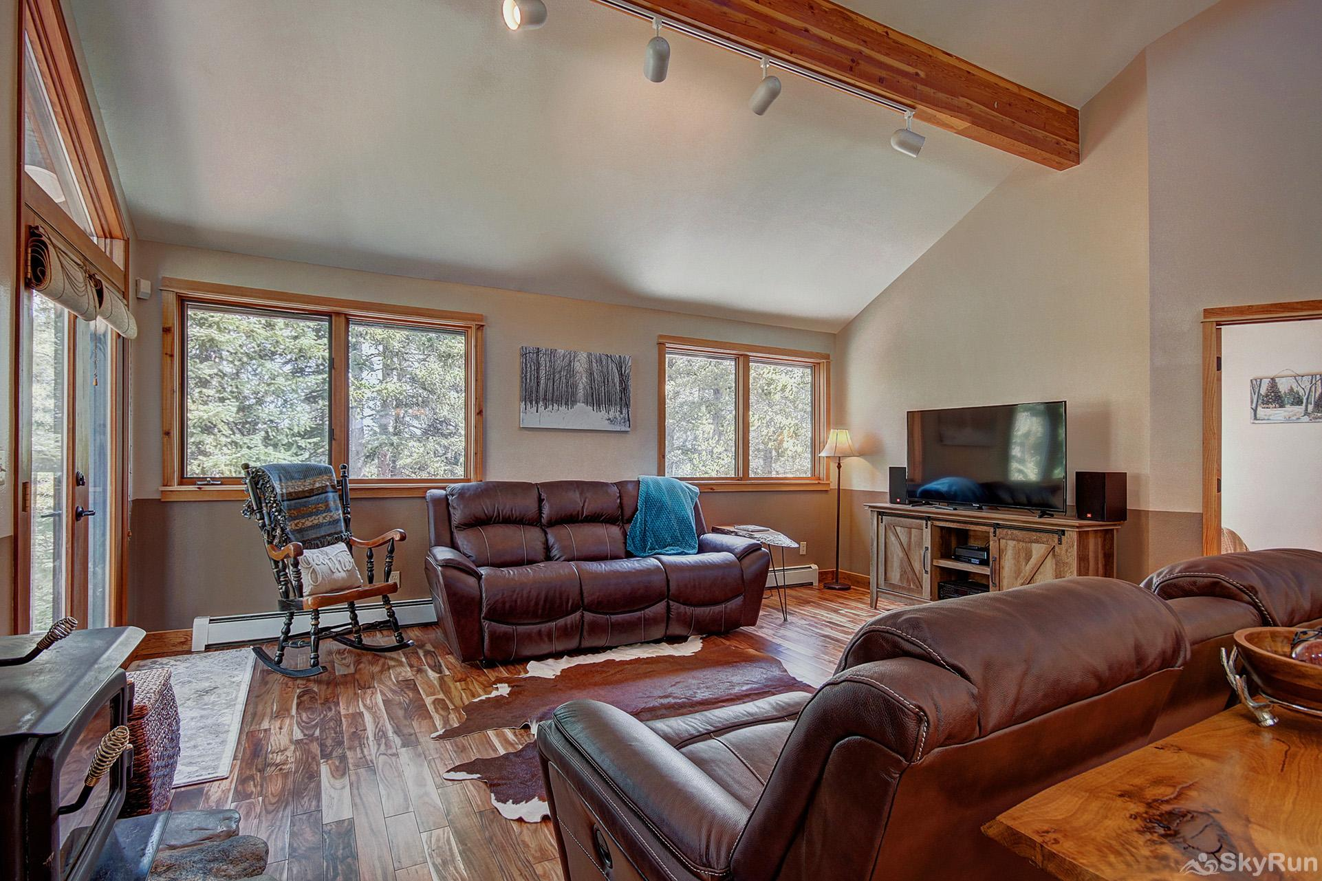 Aspen Heights Lodge Stay cozy warm by the wood burning fireplace on those cold winter nights
