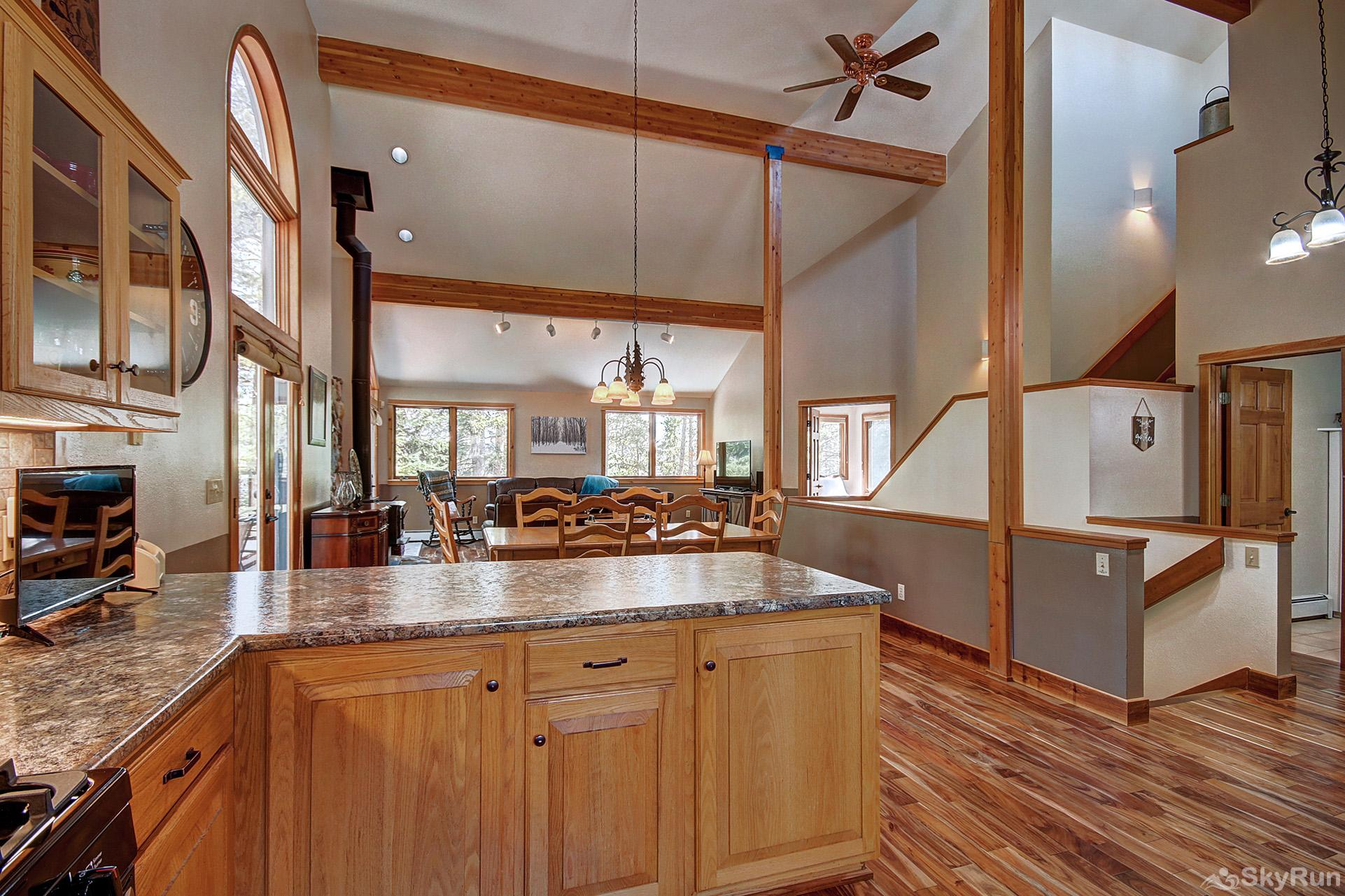 Aspen Heights Lodge Open floor plan with lofted ceilings and large windows!
