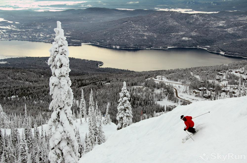 Whispering Pines Chalet Ski down the mountain while view Whitefish Lake and Glacier National Park.