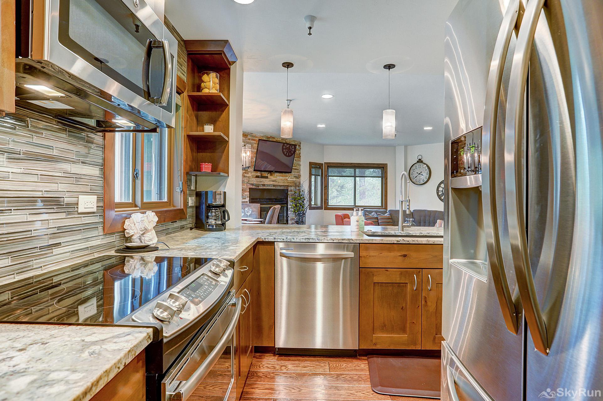 Village at Breck Chateaux 1022 Fully equipped kitchen updated with stainless steel appliances