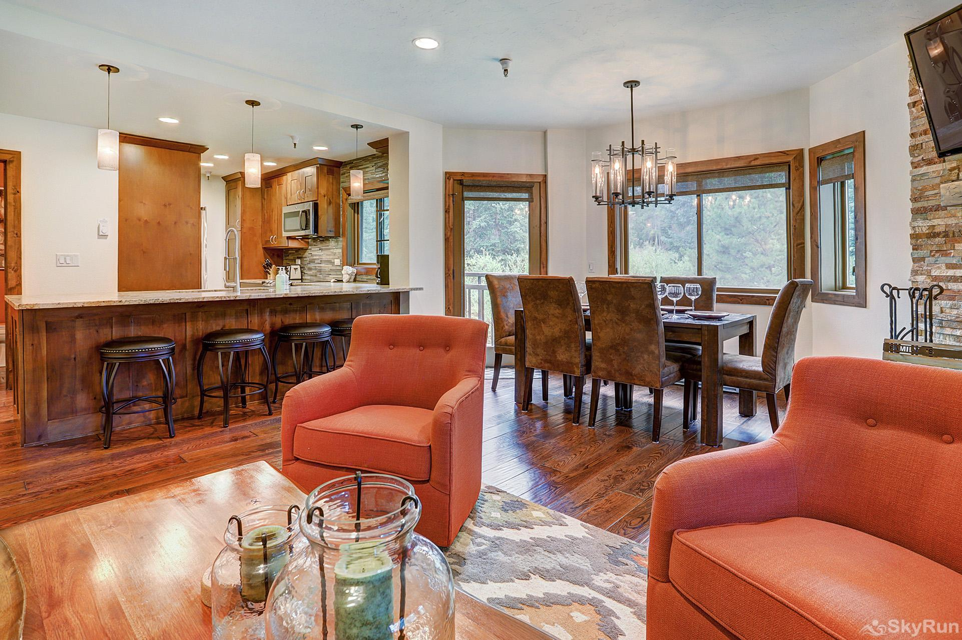 Village at Breck Chateaux 1022 Open floor plan living area conducive for socializing with friends and family