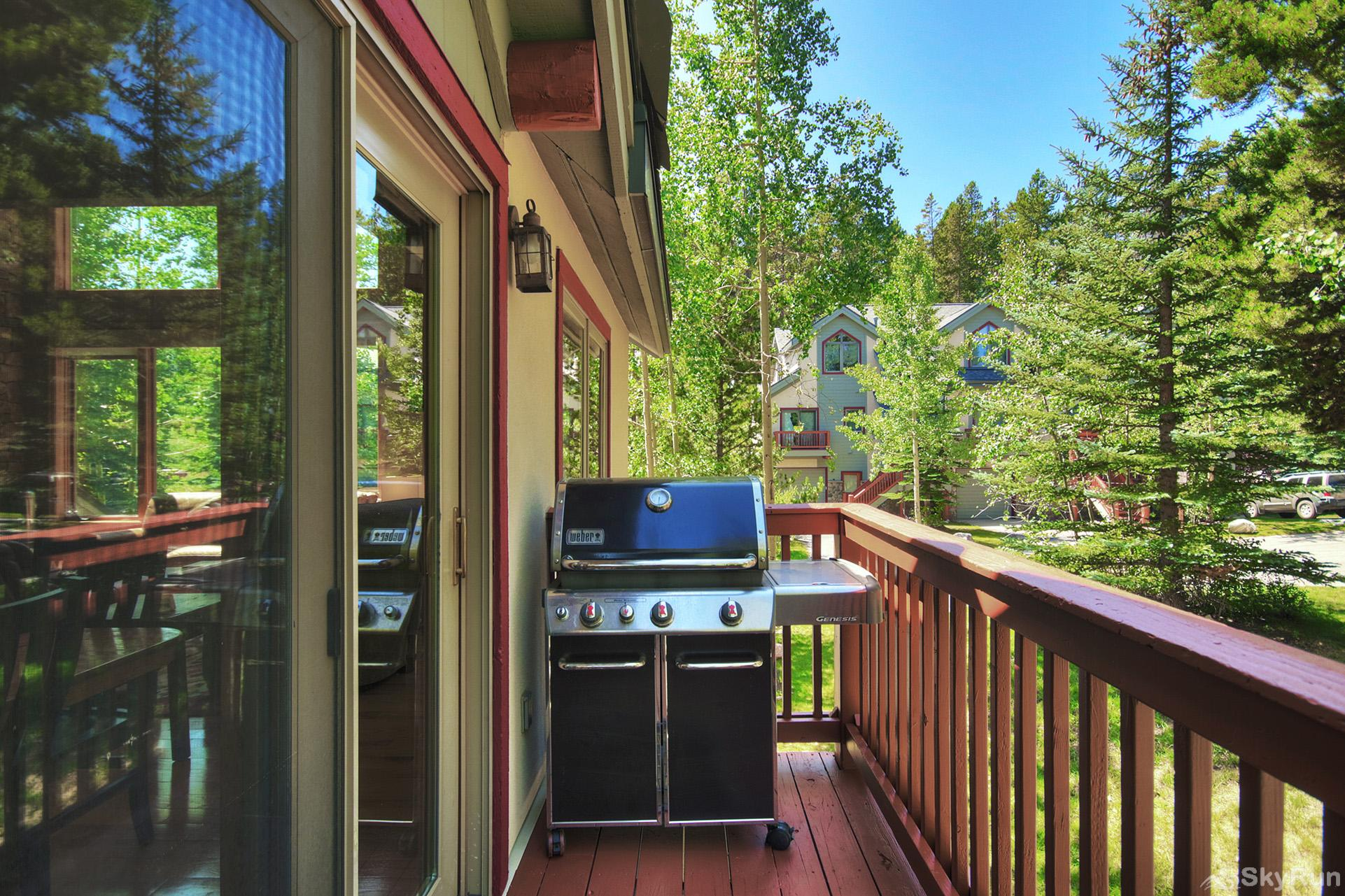 Tall Pines Lodge Balcony with propane BBQ