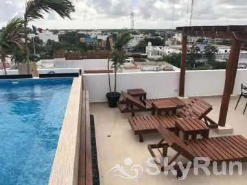 NEW LUXURY BEACH VIEW CONDO 2 BD/2Bth Mins from Beach PDC safari SkyRoof Pool Run Exclusive Discounts