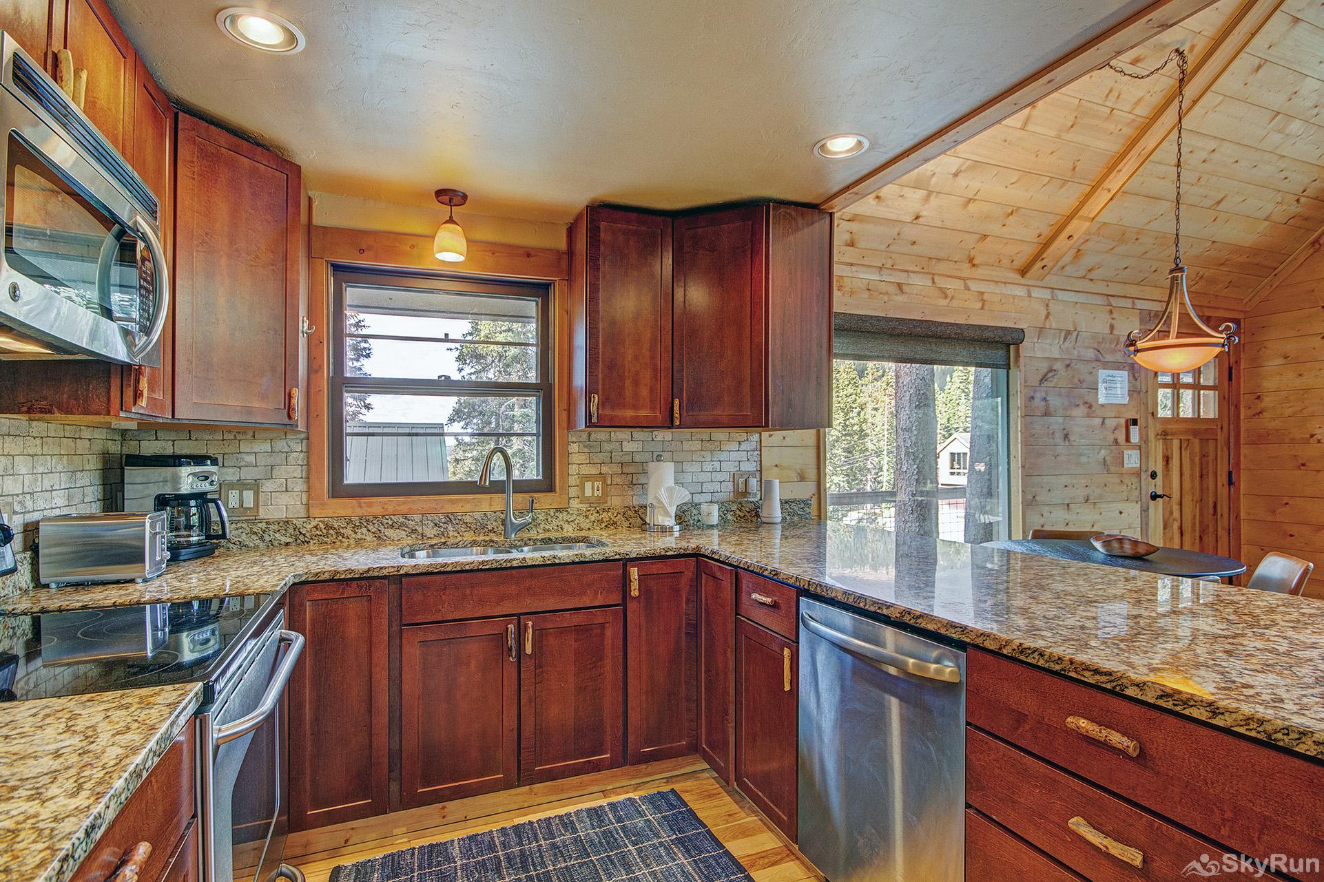 Black Bear Chalet Fully equipped kitchen updated with stainless steel appliances