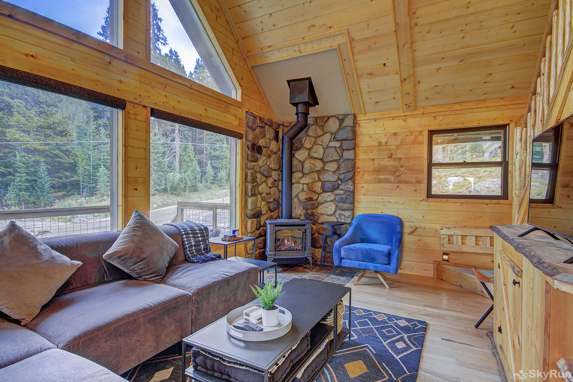 Black Bear Chalet Stay cozy warm by the gas fireplace on those cold winter nights