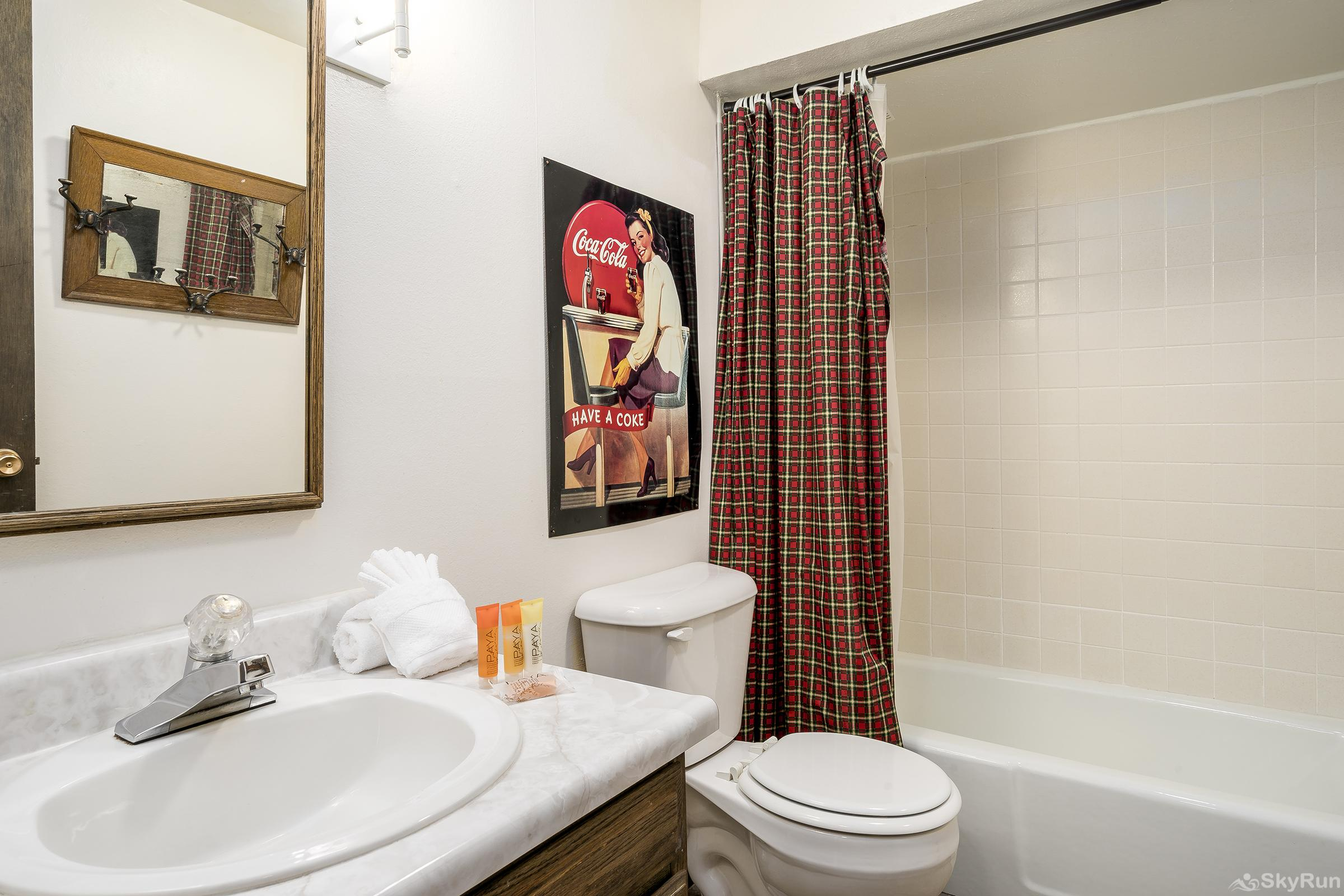 Herbage Townhomes E1 The bathroom has a fun, vintage vibe!