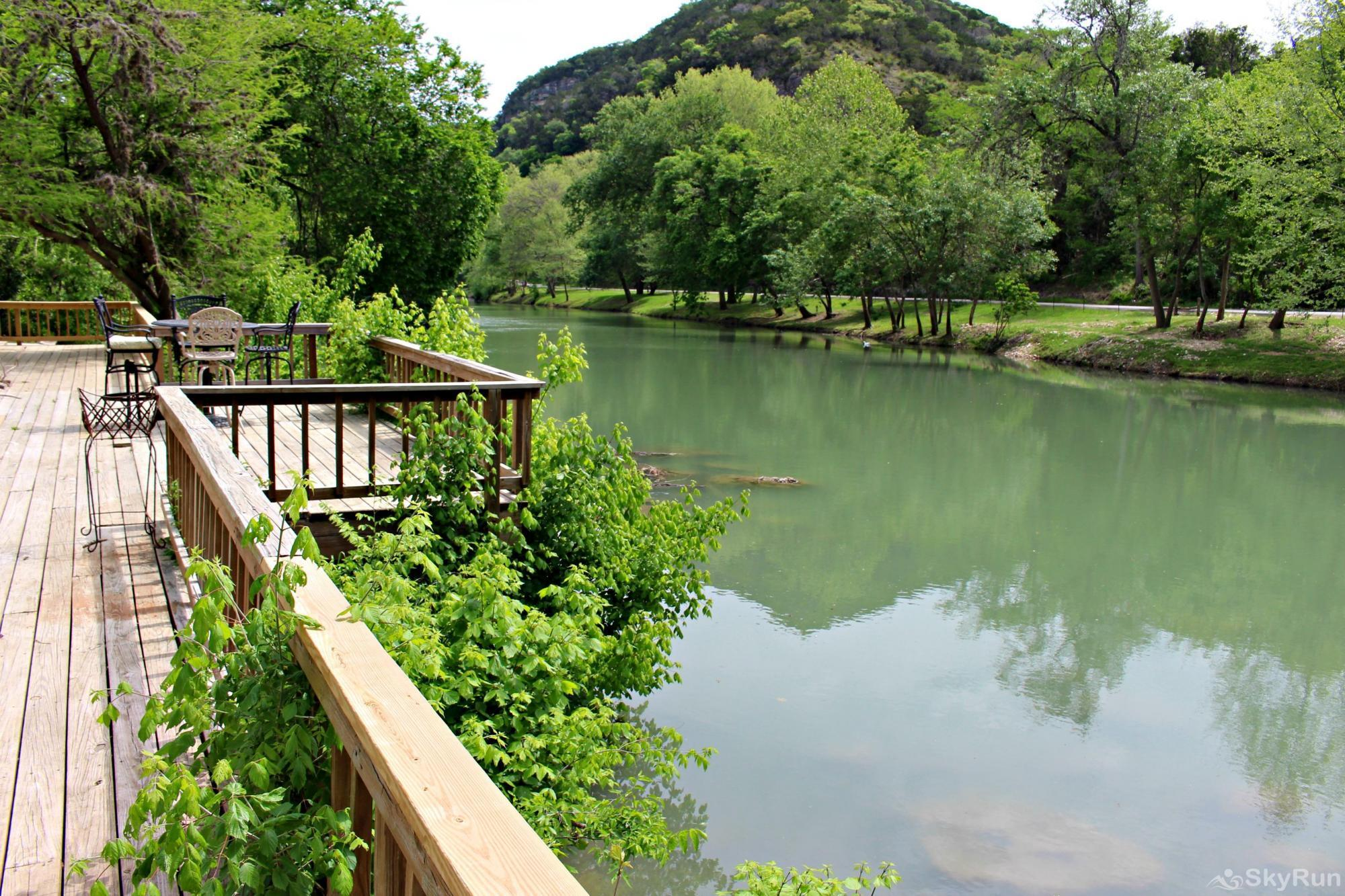 GUADALUPE RIVER GETAWAY Deck on 140 Feet of Guadalupe Riverfront!