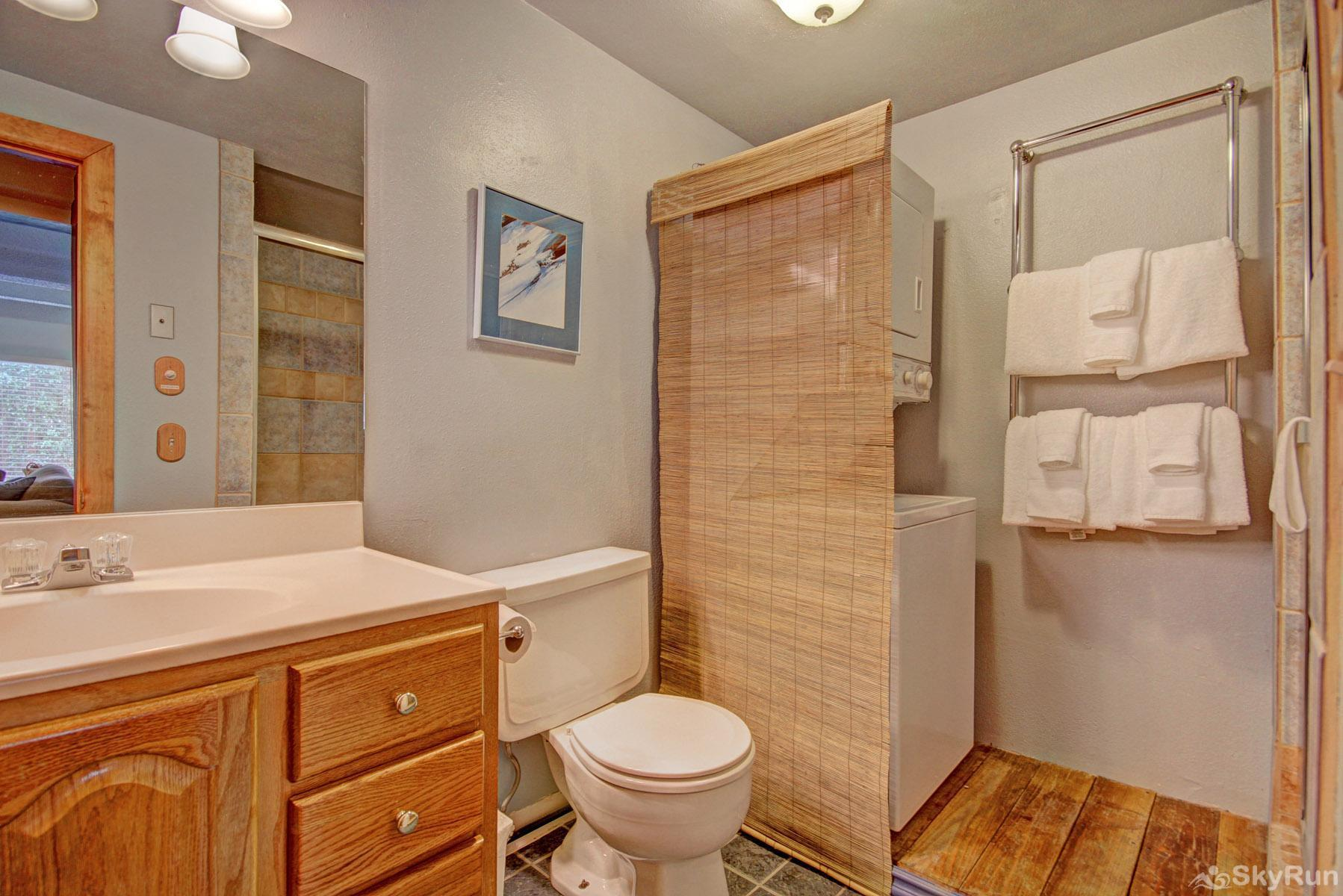 The Lift C212 Hall bathroom with washer & dryer