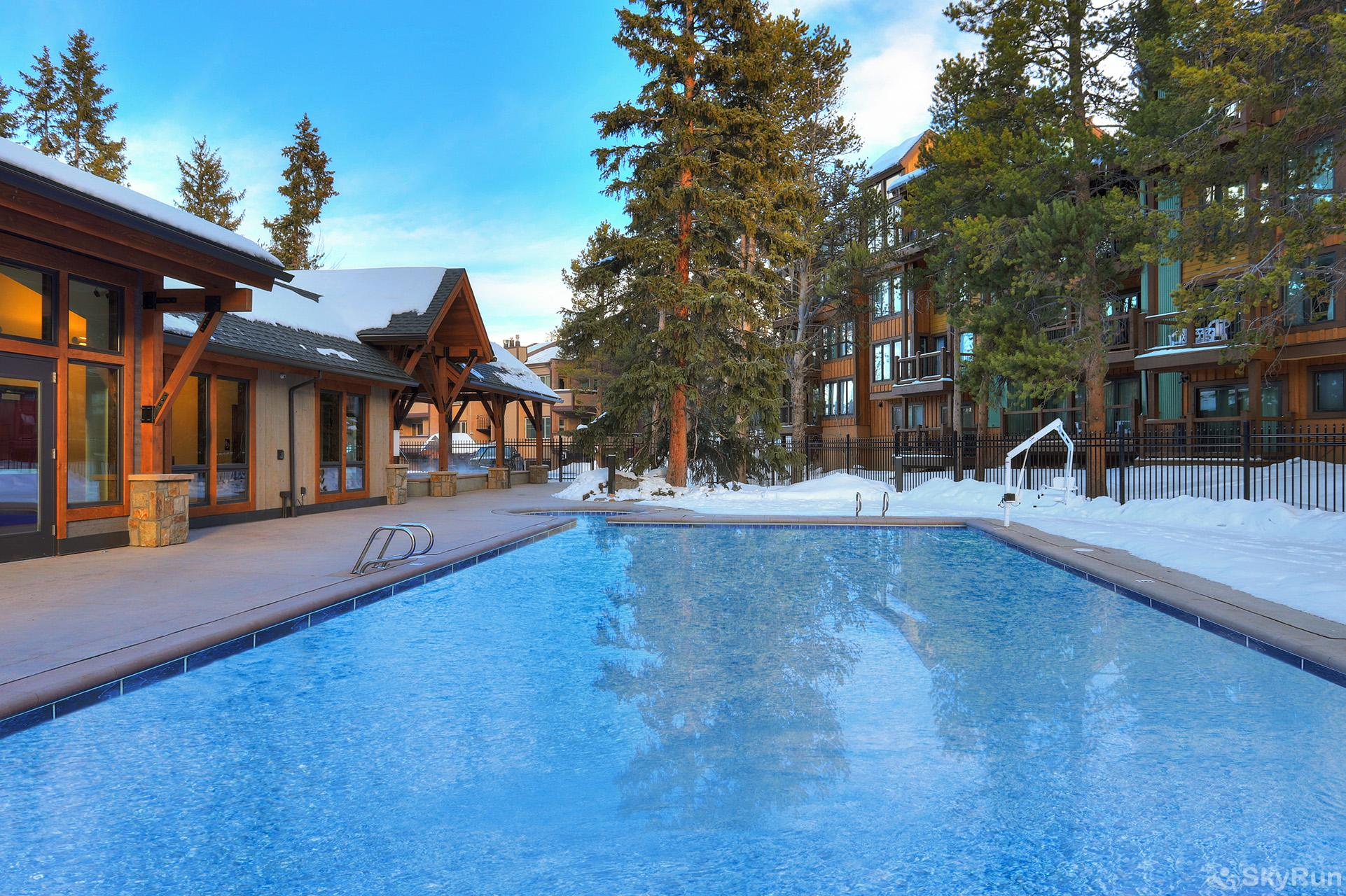 The Lift C212 Columbine Pool Complex outdoor heated pool