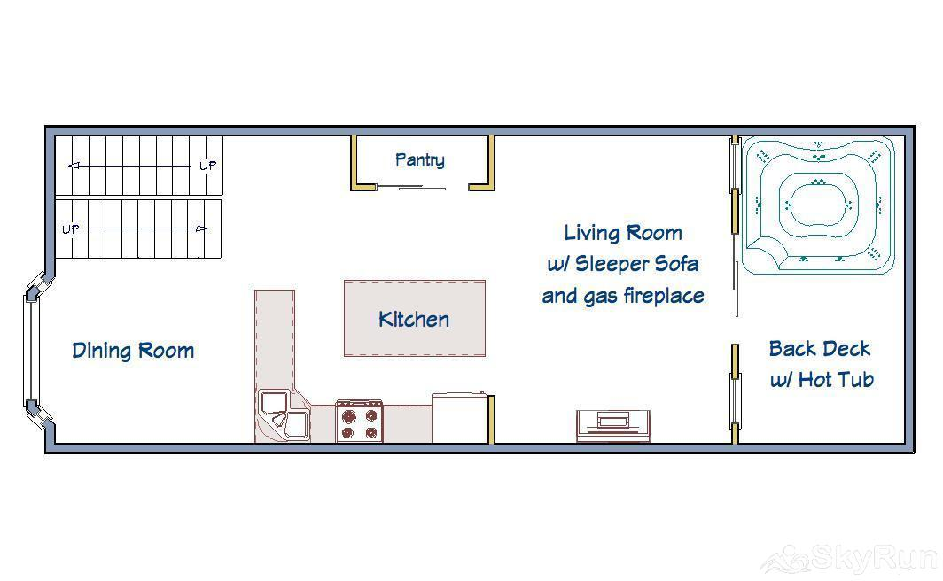 Village Point 109 Main Level Floorplan
