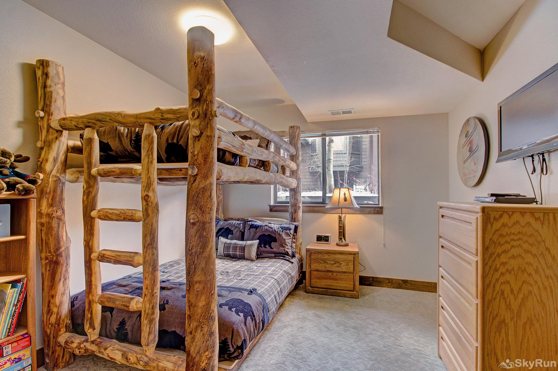 Village Point 109 Third bedroom features a twin over queen sized bunk bed