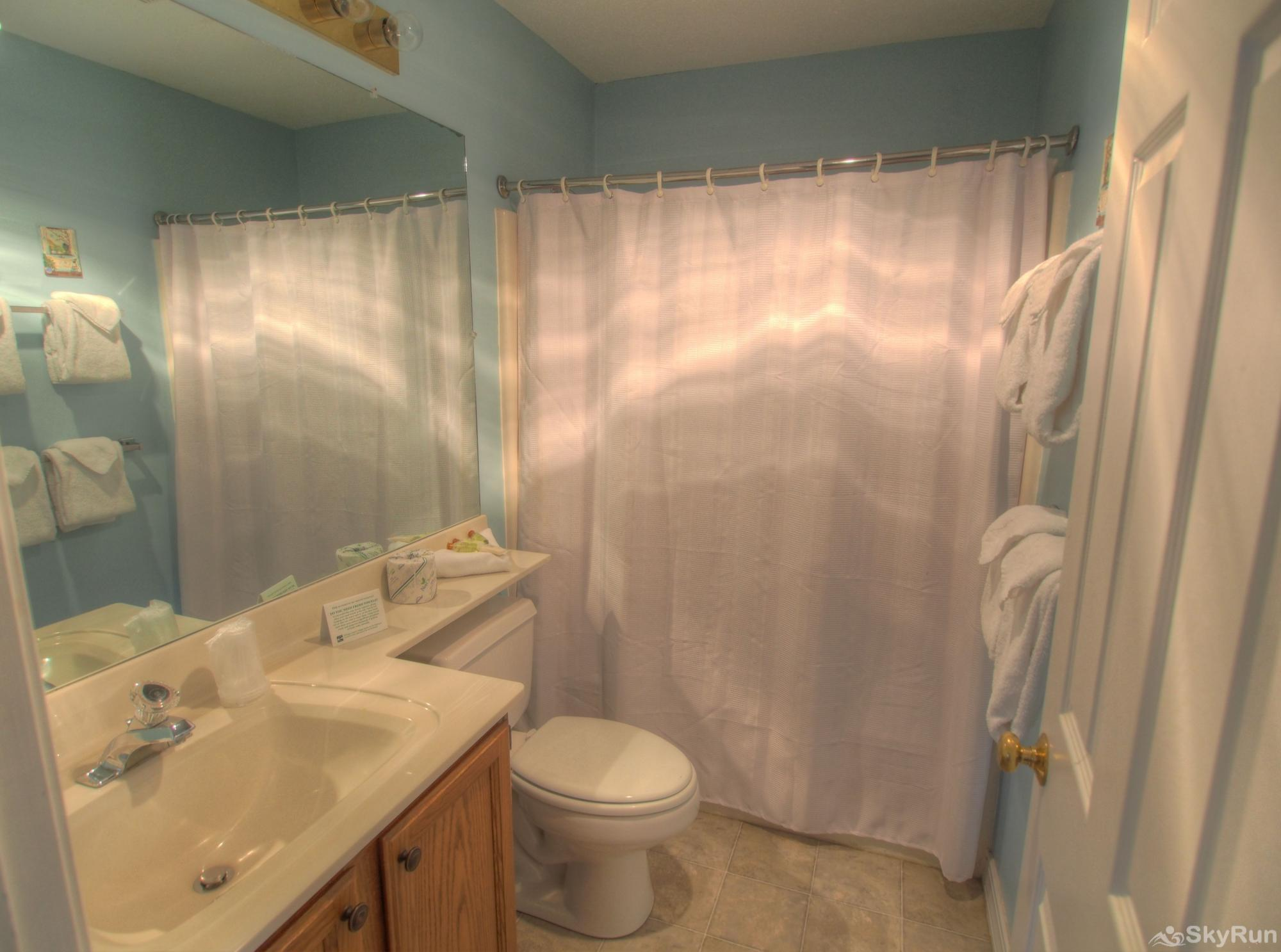 Slopeside Pico Condo Main bathroom