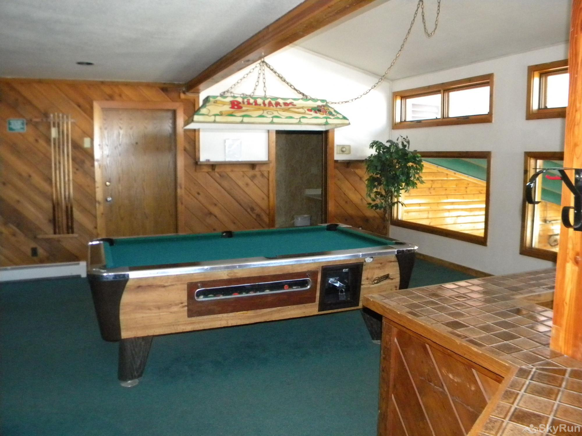 BB204 Buffalo Village 2BR 2BA Game Room