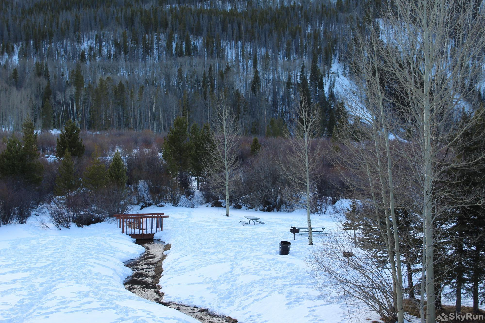241C Mountain Side 2BR 2BA Winter view from deck