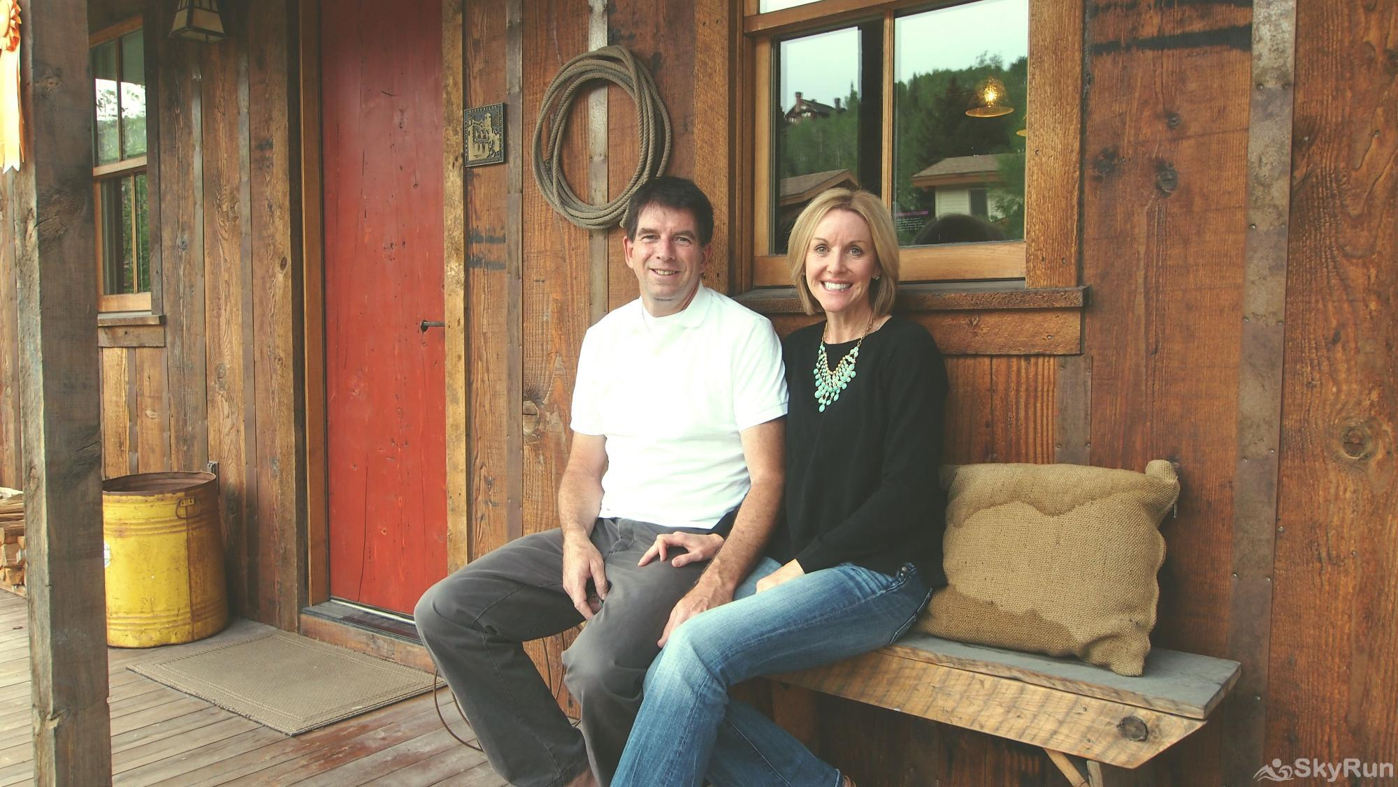 SnowCrest Cabin SkyRun's owners Michael and Fonda LeClerc