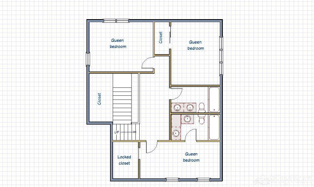 Bear Pine Chalet Floor plan - Upper Level