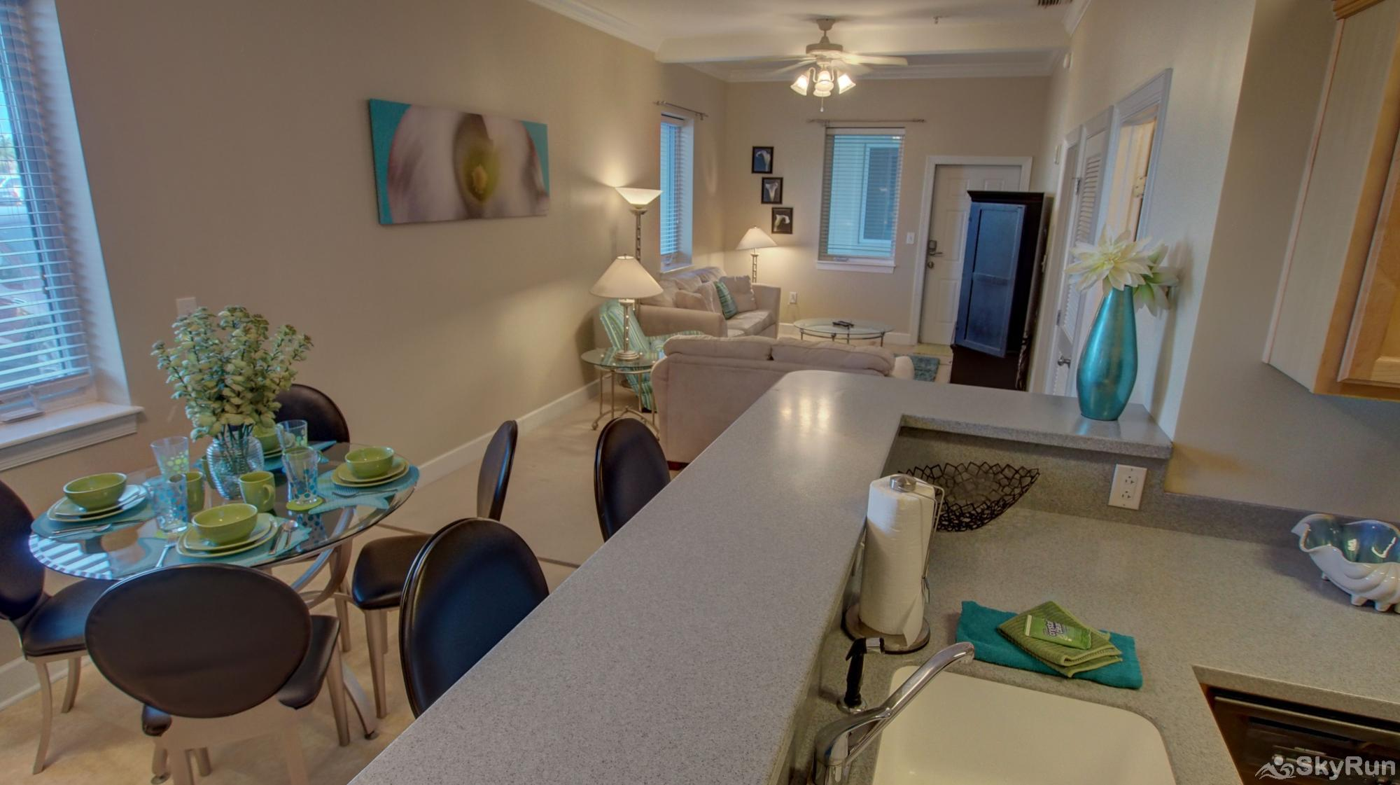 Peridot Bay Dining and Living area from Kitchen