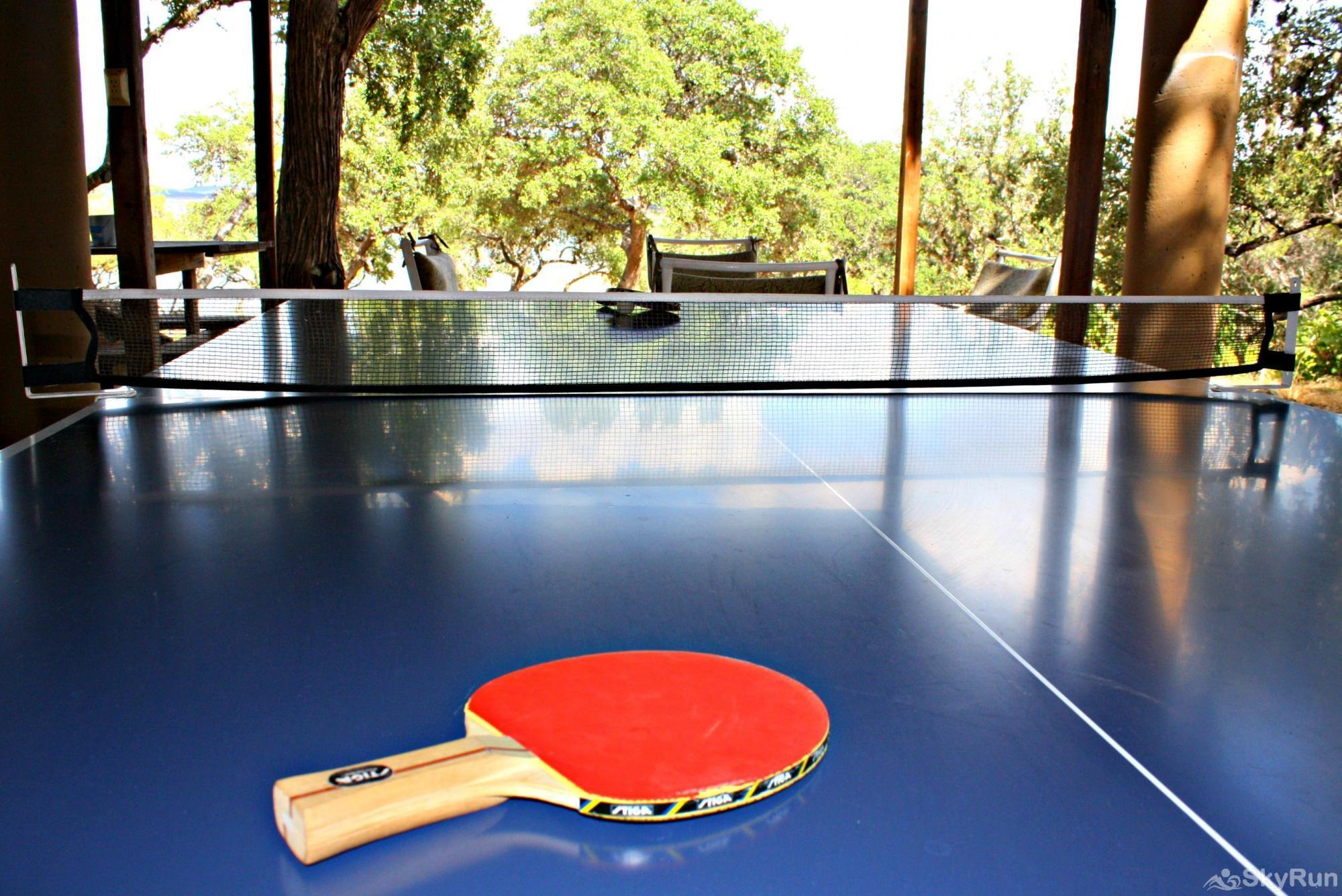CASA DEL LAGO Ping Pong Table for Age- Old Rivalry Matches