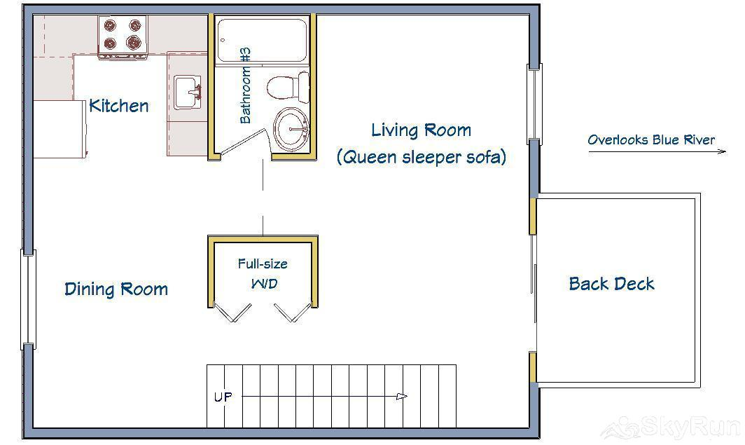 Trappeur 3 Floor Plan - Main Level