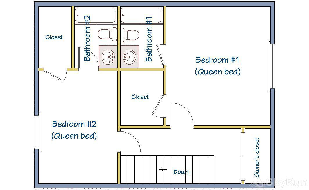 Trappeur 3 Floor Plan - Upper Level