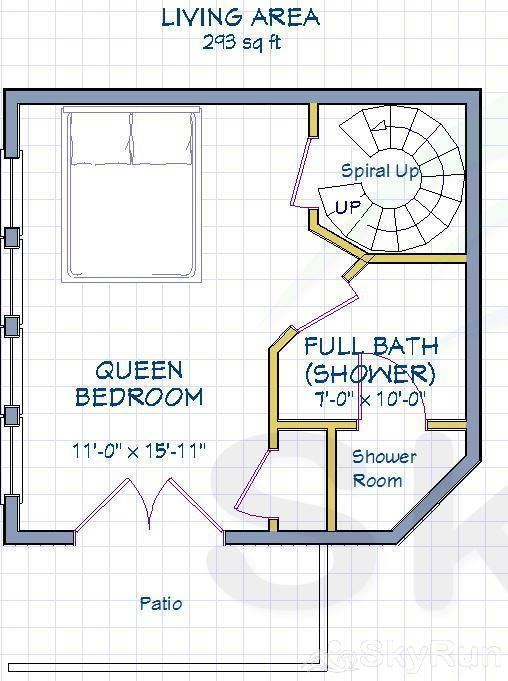 Ballard House 207B Hotel Room (no kitchen) Floor Plan