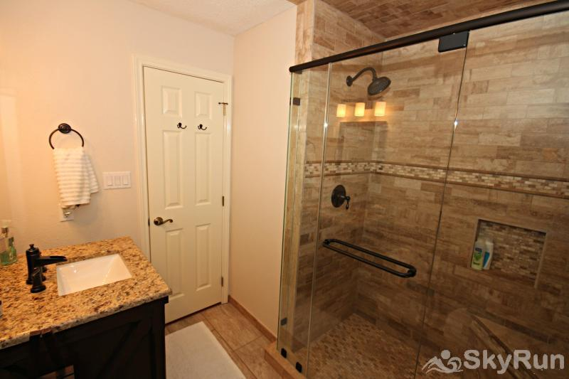 DEER CANYON RETREAT Hall Bath with Large, Tiled Walk in Shower