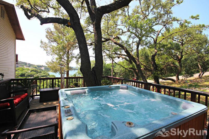 RIVENDELL LODGE Hot Tub Area with Lake Views