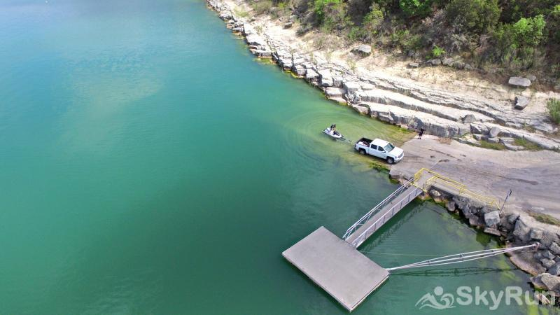 RIVENDELL LODGE Boat Ramp and Dock Directly Below the Home