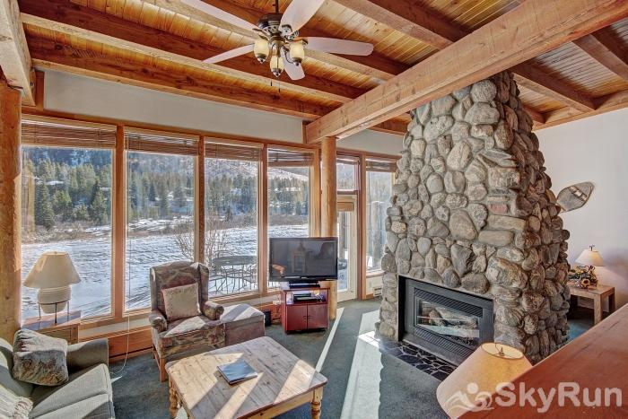 2036 Homestead Stone Fireplace