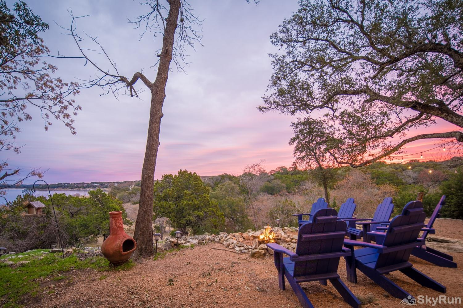 TEXAS ROSE LODGE Lake views with a Hill Country Sunset